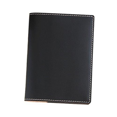 (ブラン・クチュール)BlancCouture 本革手帳カバー「A6サイズ」ノートカバー/国産フルタンニンドレザー(マットブラック)