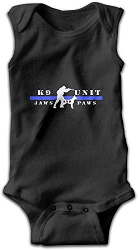 K9 Unit Jaws Paws Blue Line Monos de bebé Unisex Algodón Niños Niñas