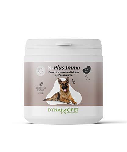 DYNAMOPET Natural Plus Immu Suplemento defensas para Perros 200gr, promueve Las defensas Naturales del organismo, Suplemento para el Sistema inmunológico de los Animales