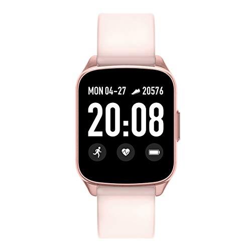 evermotor fitnesstracker,fitnessarmband für Damen Herzfrequenz Blutdruck Aktivität Schlaf-Tracking-Anrufe SMS-Benachrichtigung Rosa