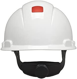 3M Hard Hat H-701V-UV, UVicator Sensor, Vented, 4-Point Ratchet Suspension, White
