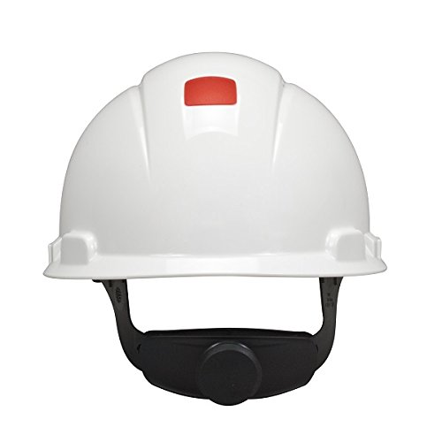 3M Hard Hat with Uvicator H-701V-UV, Vented ,White, 4-Point Ratchet Suspension