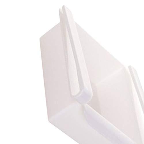 Qingfaqui 2ST Kunststoff Küche Kühlschrank Gefrierschrank Raum-Retter-Organizer Lagerregal Kühlschrank Storage Rack Shelf-Halter Schublade
