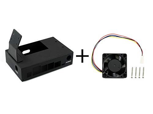Waveshare Metal Case (Type B) and Dedicated Cooling Fan PWM Speed Adjustment for The Jetson Nano Developer Kit Compatible Peripherals IMX219 Camera Wireless-AC8265 5V Fan