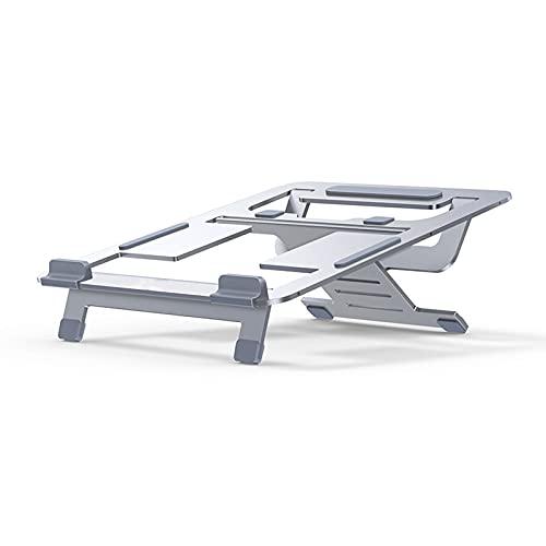 TBYGG Soporte para portátil,Plegable y portátil,6 Niveles,Altura Ajustable,Soporte Vertical para Ordenador portátil,Compatible con MacBook Pro Air,iPad,DELL,portátiles de 10 a 15,6/10-17 Pulgadas