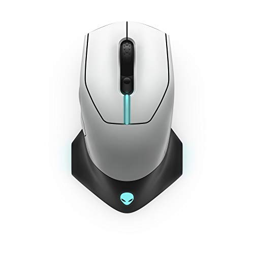 Alienware Wired/Wireless Gaming Mouse 610M-Light, Lunar Light