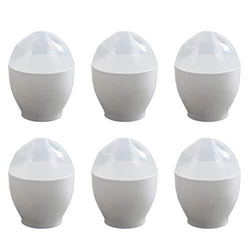 UPKOCH Mikrowelle Eierkocher Gedämpft Kunststoff Pochiert Eierkocher Eierkocher zum Frühstück Machen Küchenzubehör 6 STK