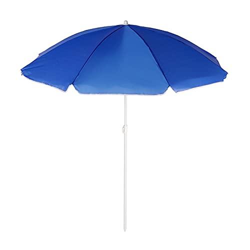 YNLRY 4 colores a prueba de viento a prueba de lluvia paraguas de playa grande de tela de poliéster paraguas refugio para exteriores de 1,8 m de diámetro (color: azul cielo)