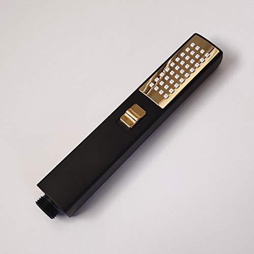 GFHDGTH 4 kleuren handheld douchekop, hoge druk sproeier waterbesparende douchekoppen houder voor baden SPA douchekop Zwart Goud