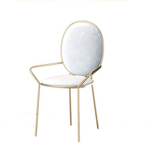 XZGang Silla de Comedor, luz Sillón de recepción Silla de Metal for sillas de Tea Shop Chair Hotel Presidente Crear Vida Simple (Color : A, Size : 44 * 45 * 87cm)