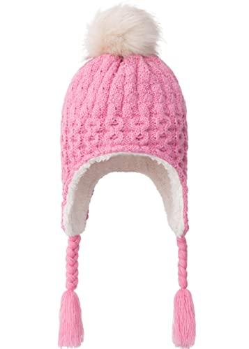 Foruhoo Gorro de punto para bebé con orejeras, Forro polar #10: rosa, 52
