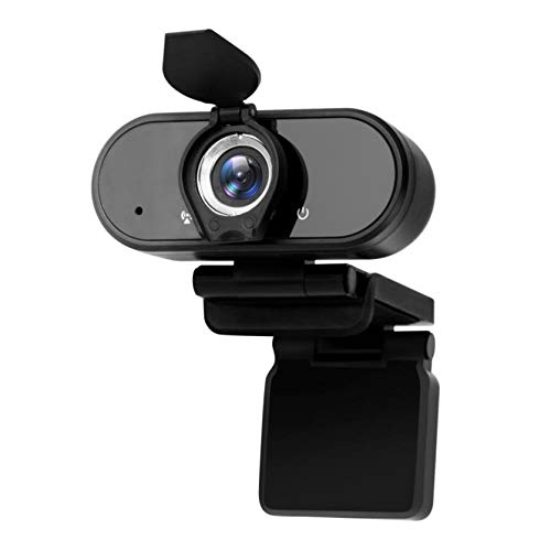 HD Webcam 1080P for Desktop, Built-in Microphone USB PC Video Recording Camera, 110-Degree Wide View Angle with Privacy Cover, 30FPS Plug and Play for Laptop Computers, Conferencing, Gaming