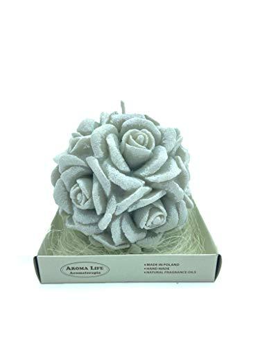 Candela Sfera di Rose Aroma grande (Grigio)