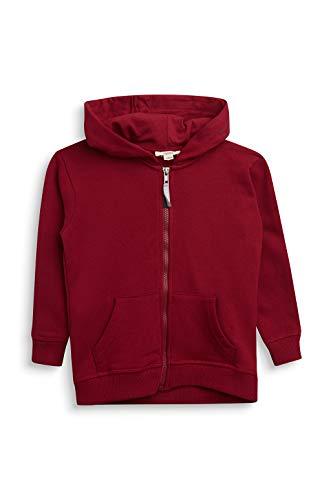 ESPRIT Baby-Jungen Sweatjacke Sweatshirt, Dark red |red, 104/110