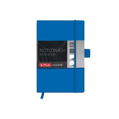 Herlitz 11369121 Notizbuch my.book Classic A6, 96 Blatt, liniert, blau