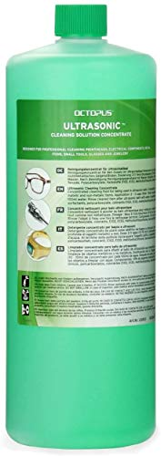 Octopus 1 litro Detergente per Pulizia ad ultrasuoni – concentrato per la Pulizia di Gioielli, Occhiali, apparecchi dentali, Metalli preziosi e testine di Stampa in Bagno ad ultrasuoni