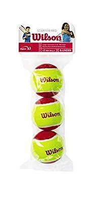 Wilson Starter Red Pelotas de tenis, pack de 3, para niños, amarillo/rojo