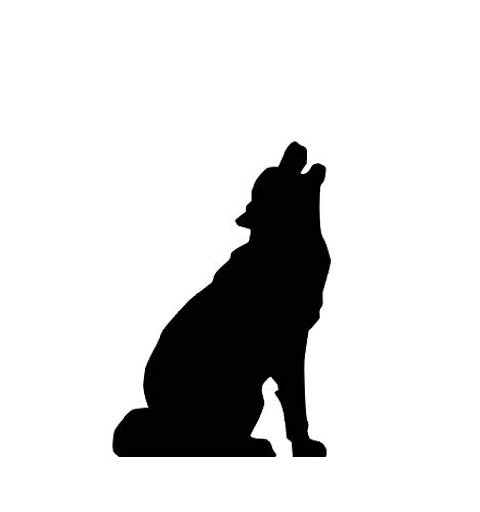 Advanced Graphics Howling Wolf Silhouette Life Size Cardboard Cutout Standup