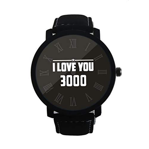 REALDE Moda Te Amo 3000 Numeral Romano Diamante Lector Fácil Relojes con Banda De PU Creative Simplicity Reloj Análogo De Best Gift For Friend Gift
