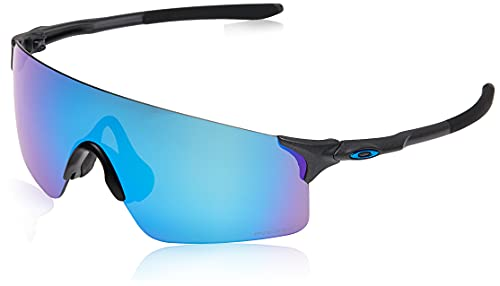 Oakley Men's OO9454 EVZero Blades Rectangular Sunglasses, Steel/Prizm Sapphire, 38 mm