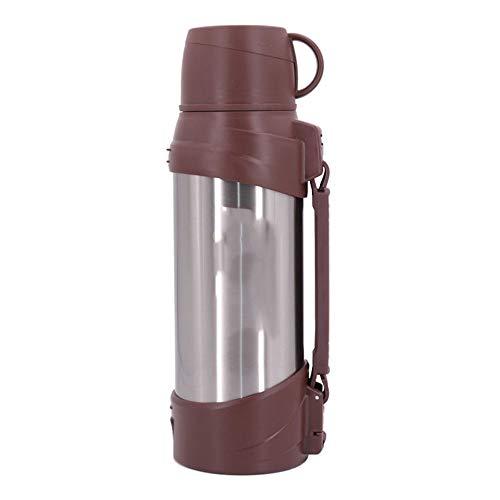 ZXCVB Termo de acero inoxidable de gran capacidad de 2 litros y 2000 ml de doble tapa, termo de viaje, puede llevar botella de agua (color: Style2, tamaño: 2000 ml)
