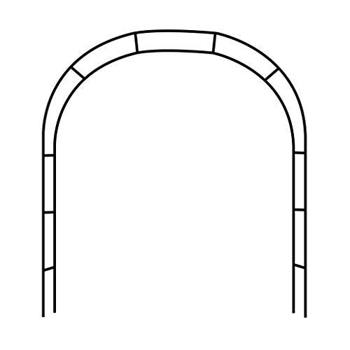 ESTEAR Arco de jardín Metal Hierro Forjado Arco Decorativo Diseño rústico - Ideal para Cultivar Cualquier Tipo de Plantas trepadoras - Negro