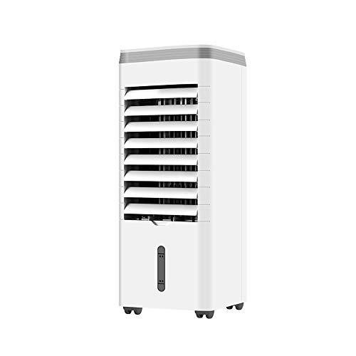 HANSHAN Mobile Klimageräte Mobile Klimaanlage mit Fernbedienung, ruhig Luftkühler Ventilator, 3 Windgeschwindigkeiten, 12-Stunden-Timer-Funktion, 3,8-Liter-Wassertank, Leistung 60 Watt, Weiss