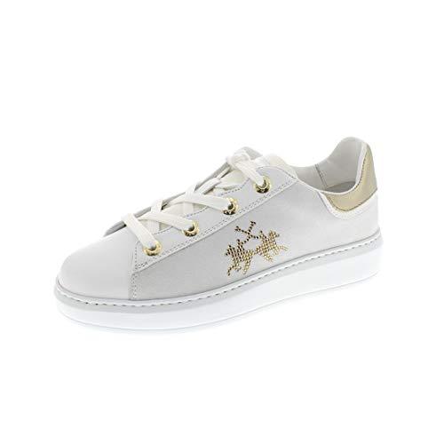 La Martina Damenschuhe - Sneaker LFW201538 - Bianco, Schuhgröße:38