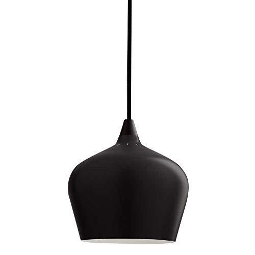 LED Hängeleuchte Vintage mit Leuchtmittel 7W = 60W E27 opal Filament Retro Industrie Design Metall Hängelampe (Schwarz, Bowl hoch)