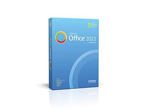 SoftMaker Office Standard 2021 für Windows, Mac und Linux|Standard|1 Gerät im Unternehmen / 5 Geräte im Haushalt|Perpetual|PC/Mac|Disc|Disc
