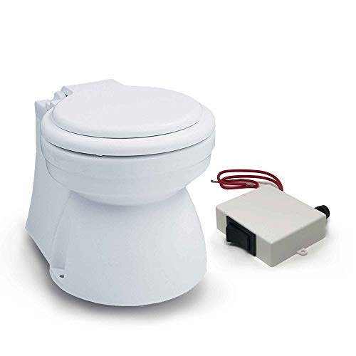 Five Oceans TMC Electric Marine Toilet Small Skirted Bowl, 12V - 1600 FO-1600
