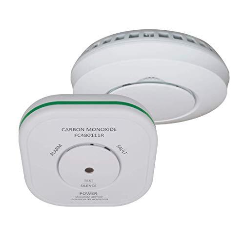 ELRO Connects FF5048R Kombi-Paket-Kohlenmonoxidmelder und Rauchmelder mit Hitzesensor-EN50291-1A1:2012 und EN14604:2005/AC:2008-Vernetzbarer, 2 Stück