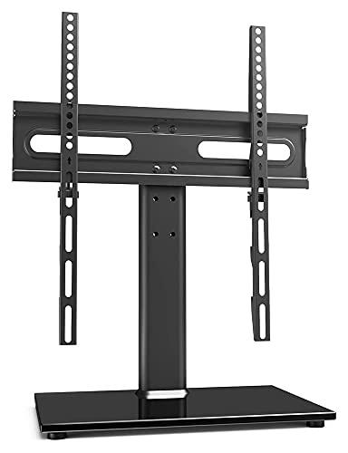 Niversal TELEVISOR Tabla de pie/Base TELEVISOR Párese con Soporte de Pared para 27 a 55 Pulgadas de Altura de Nivel 9 Ajustable (Color : Black)