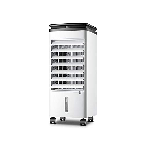 HANSHAN Mobile Klimageräte Mobile Klimaanlage mit 3M Netzkabeln, Kühlung und Heizung, Evaporative Luftkühler mit Fernbedienung, 3 Windgeschwindigkeiten, 12-Stunden-Timer-Funktion, 7-Liter-Wassertank,