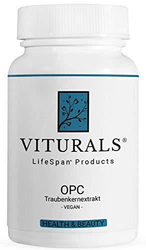 VITURALS® OPC Traubenkernextrakt - 380mg - 120 Kapseln - Premium Qualität - Vegan - zur Unterstützung vieler lebenswichtiger Funktionen wie Blutdruck, Immunsystem und Wundheilung.