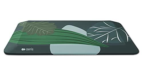 aeris Muvmat Anti Ermüdungsmatte für Stehtische – Ergonomische 2-Zonen Schreibtisch Stehmatte für gesundes Stehen – strapazierfähige Arbeitsplatzmatte Bezug Jungle