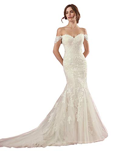Top 10 Best Off the Shoulder Mermaid Wedding Dress Comparison