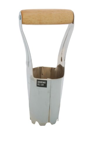 Zenport ZL120 Bulb Planter 1 Easy to use professional bulb planter or home gardeners and commercial applications Simply push, twist and pull to remove soil, pull lever to release soil over planted bulbs Wide handle can fit two hands; measures 6-inch (152mm) by 2.5-inch (63.5mm) by 9.25-inch (235mm)