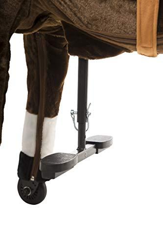 Animal riding ZRP002M Reitpferd Amadeus (für Kinder ab 5 Jahren, Sattelhöhe 69 cm, mit Rollen) ARP002M, Braun, M/L - 6