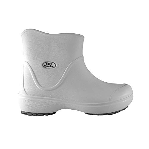 Bota Unissex Profissional SoftWorks Antiderrapante Light Boot Trabalho EPI C.A. 37.390 Cano Curto EVA BB85 - Branco