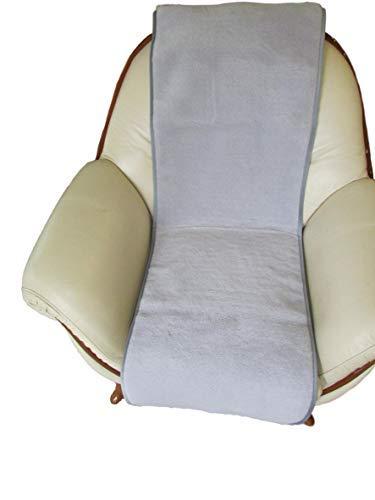 Alpenwolle Sesselschoner Island grau 50x180cm Überwurf Läufer Sitzauflage Sesselauflage