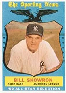 1959 Topps Regular (Baseball) card#554 Bill Skowron AS of the New York Yankees Grade Very Good