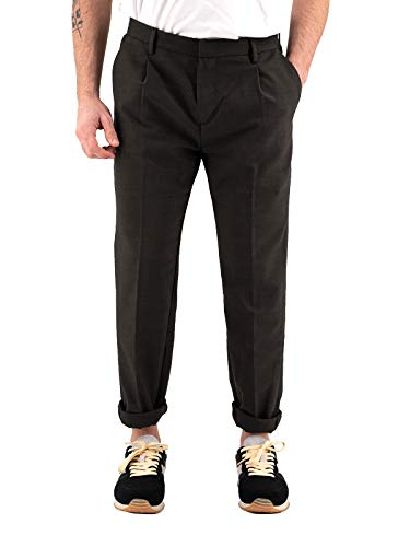YAN SIMMON Pantalone Tapered Fit con Pinces Tasca America Art. A275 Friend (52, Moro)