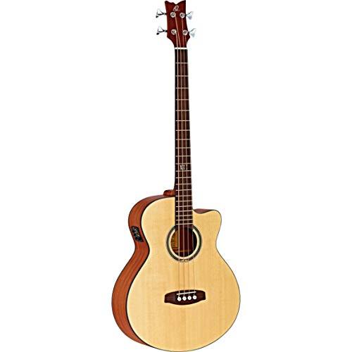 Ortega D538-4 4-Saiter Akustik Bass Deep Series Gitarre mit Preamp/Pickup
