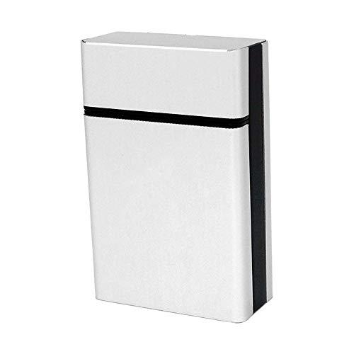 WINOMO Étui à Cigarettes en Aluminium léger Cigarette Boîte Cigare Housse (argent)