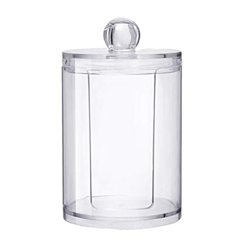 zhibeisai Clear Portable Round Cotton Pad Storage Box Q-Tip Container Makeup Holder Transparent Cosmetic Case
