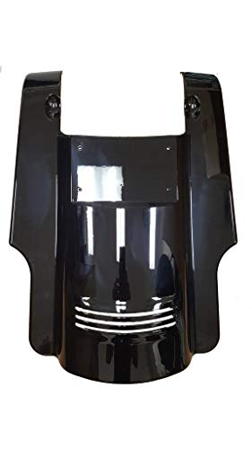 Bagger Brothers BB-HD1584-153 Vivid Black Tall Angled ABS Fender Extension With License Plate And Filler Panels For 2009-2019 Harley-Davidson Touring Models - Duel Cut-outs