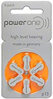 30 x Size p13 PowerOne Hearing Aid Batteries
