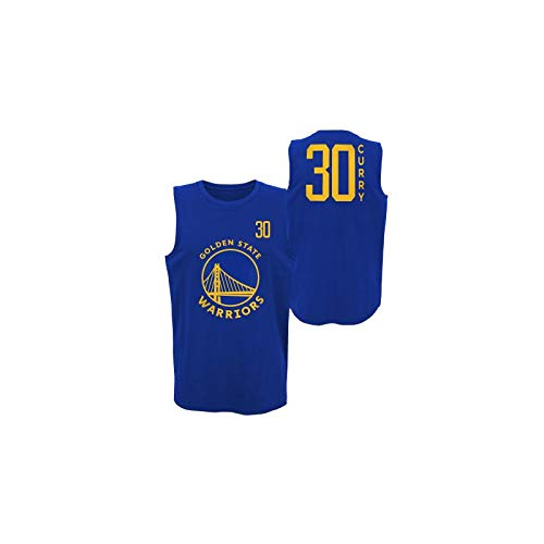 OUTTER STUFF - Canotta NBA Stephen Curry Golden State Warriors Dunked Muscle Blu da uomo