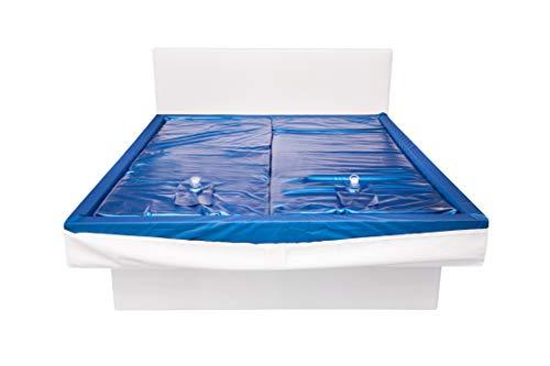 Aqua Sense 2X Wasserkern inkl. Liner/Schutzfolie + 2X cond. - ersatzset für Wasserbett/Wasserbettmatratze Größe - 160 x 220 cm Dual - Softside: Innen keilförmig 20-23 cm - Beruhigung 0%